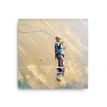 Tranquility Fly Fishing 12″ x 12″ Canvas
